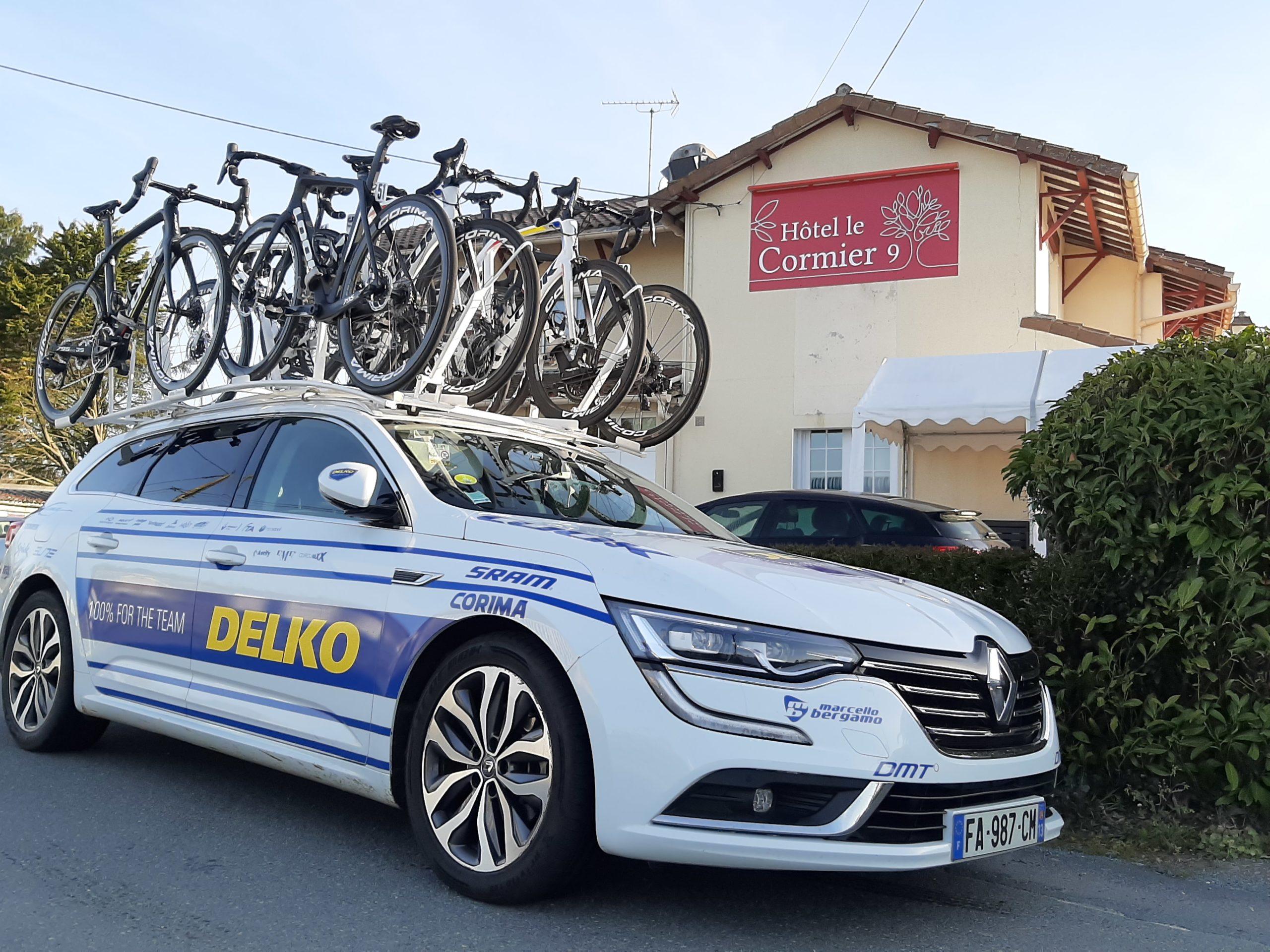 Cyclisme, Team Delko à l'hôtel Le Cormier 9 à Cholet